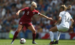 England captain Steph Houghton in action during the 1-0 friendly defeat to New Zealand.