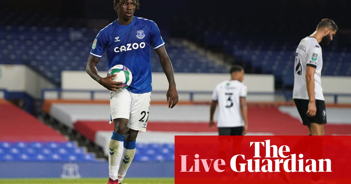 Everton v Salford City, Leeds v Hull and more: Carabao Cup second round – live!