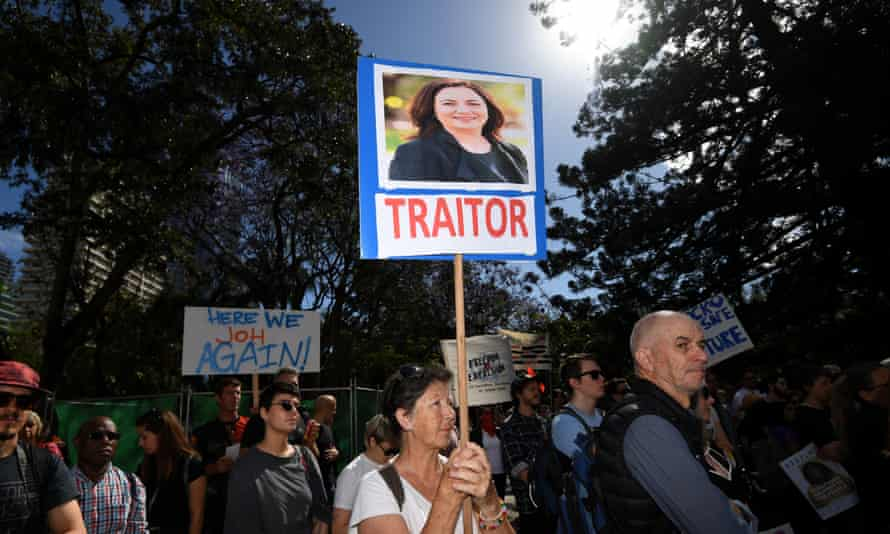 Queensland rally against anti-protest laws.