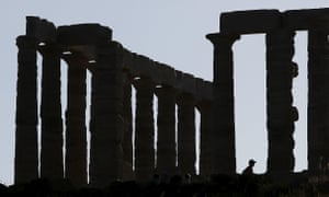 The Temple of Poseidon in Cape Sounion in Greece.