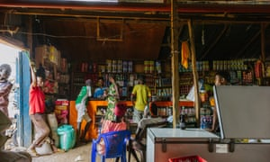 Refugees and members of the local Turkana tribe come to Getahun's store as much to socialise as do business.
