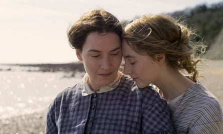 Impassioned reimagining of neglected lives ... Kate Winslet and Saoirse Ronan in Ammonite.