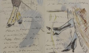 Manet's letter to Madame Guillemet was illustrated with 'pretty ankles and ruffed hemlines'.