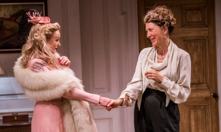 Sexual passion and social snobbery … Helen George (Diana Fletcher) and Eve Best (Olivia Brown) in Love In Idleness.