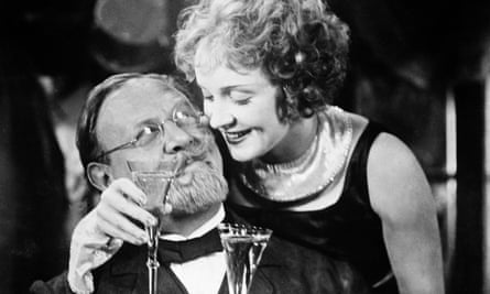 Emil Jannings and Marlene Dietrich in The Blue Angel.