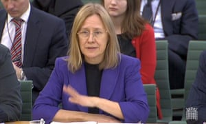 HMRC chief executive Lin Homer gives evidence to the public accounts committee in London.
