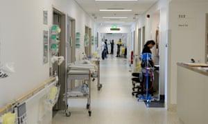 A hospital corridor