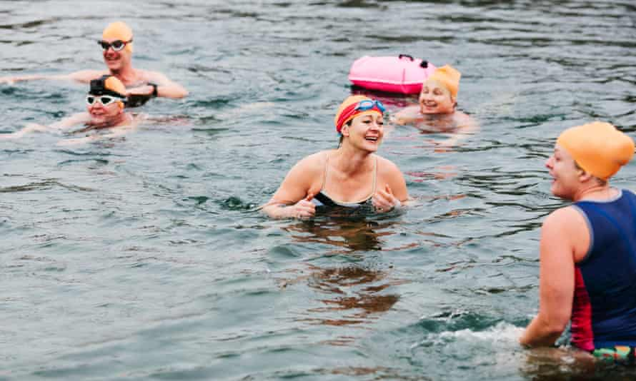 Swimmers in Essex. Open water groups say regular swimmers help beginners and are unfairly blamed for problems
