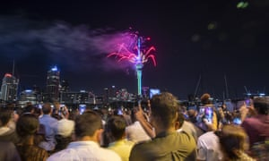 New Zealanders Celebrate New Year's Eve 2019.
