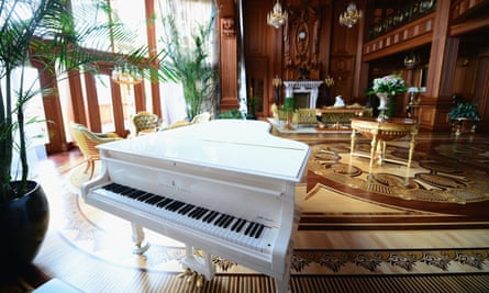 The lavish home of the former president of Ukraine, Viktor Yanukovych, who faces corruption charges in the country.