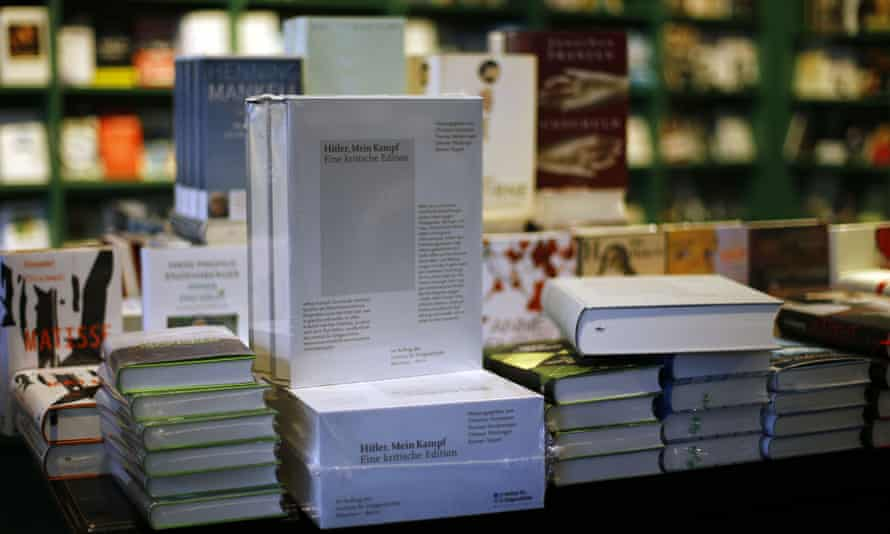 A copy of Hitler, Mein Kampf: A Critical Edition on display in a bookshop in Munich, Germany.