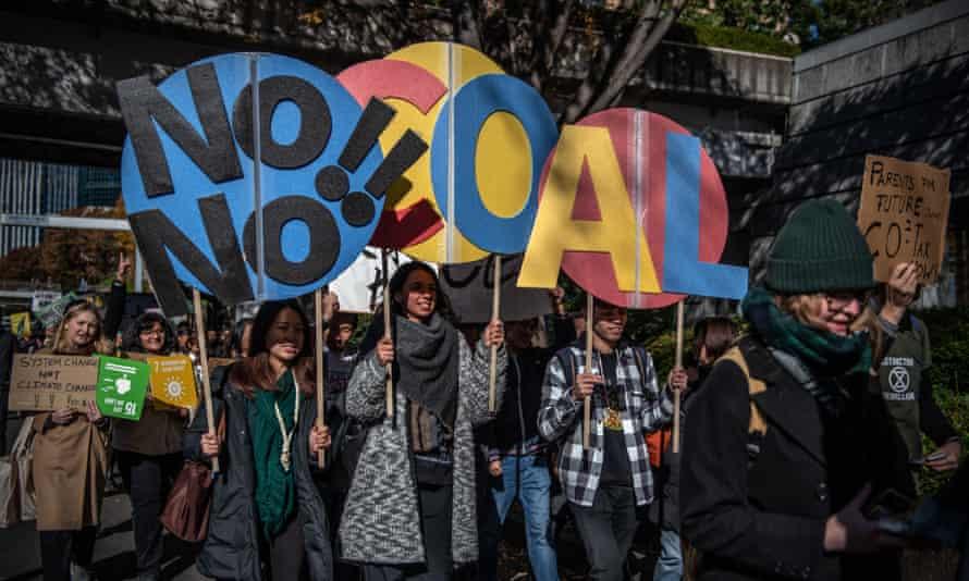 Protesters take part in the global climate strike in Tokyo in November