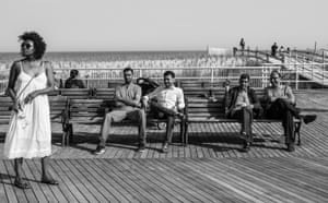 People-watching on the Boardwalk at Maryland Avenue. May 2018
