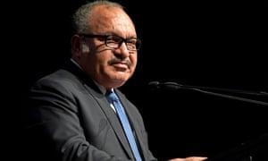 Former Papua New Guinea prime minister Peter O'Neill in Brisbane in 2018