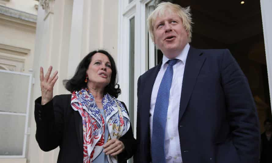 The then French ambassador to the UK, Sylvie Bermann, with Boris Johnson in 2016.