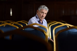 Amos Oz is an Israeli writer, novelist, journalist and intellectual. He is also a professor of literature at Ben-Gurion University in Beersheba photographed inside Islington Assembly Hall