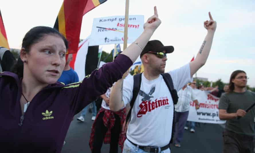 A Pegida rally in Berlin in August 2015.