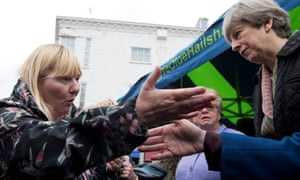 Cathy Mohan confronts Theresa May