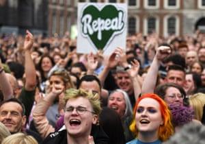 Celebrations after the referendum result