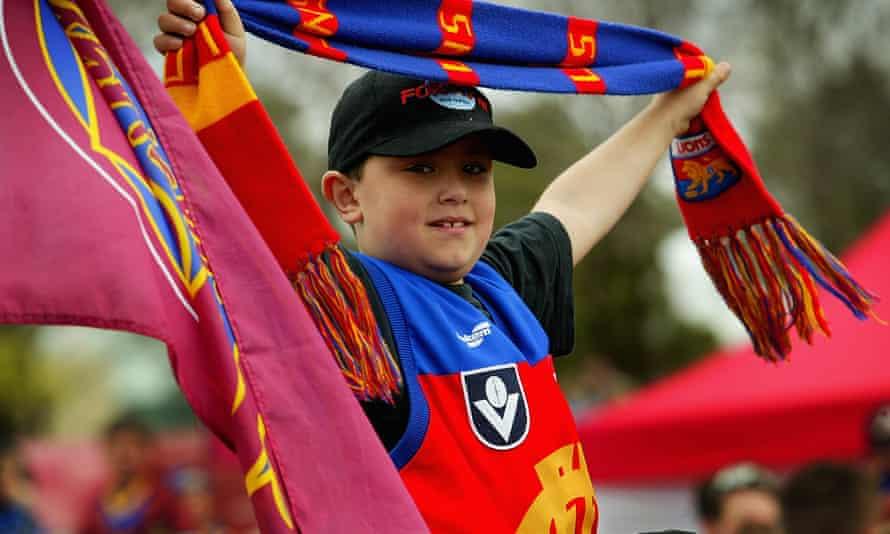 A Brisbane Lions football fan