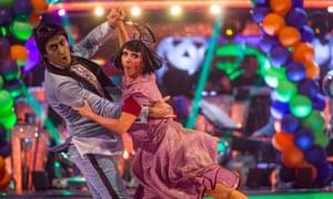Murder on the dancefloor: Giovanni Pernice and Debbie McGee do a Frankenstein-themed charleston.