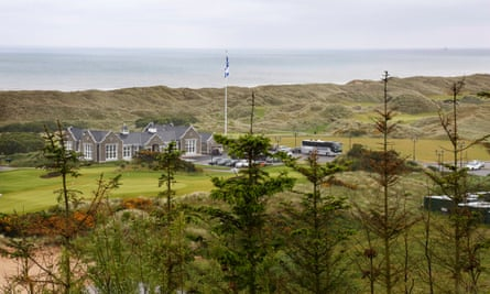 The club house and course at the Trump International Golf Links Scotland course in Aberdeenshire