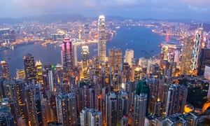 A view of Hong Kong skyline. On March 26, Hong Kong will elect its next leader, known as the chief executive.