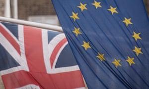 EU and UK flags.