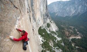 Tommy Caldwell on Yosemite's Dawn Wall.