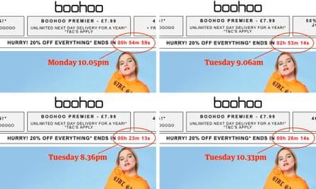 How Bohoo's countdown clock changed