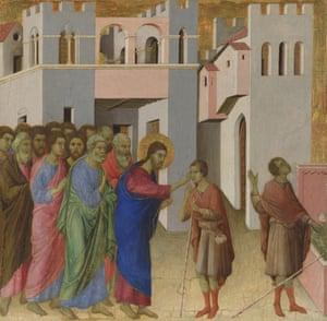 The Healing of the Man Born Blind, c1308-1311, byDuccio di Buoninsegna.