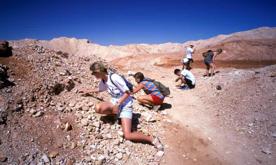 Are there treasures still to be found? … tourists fossicking for opals in Coober Pedy in South Australia.