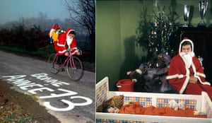 Cyclist Cyrille Guimard does his best Father Christmas impression