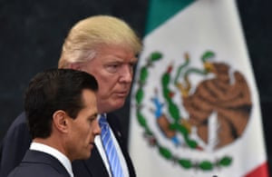 Donald Trump and Mexican President Enrique Pena Nieto.
