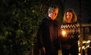 Keir Starmer and his wife Victoria hold a candle outside their home in north London for a doorstep vigil for Reclaim These Streets.