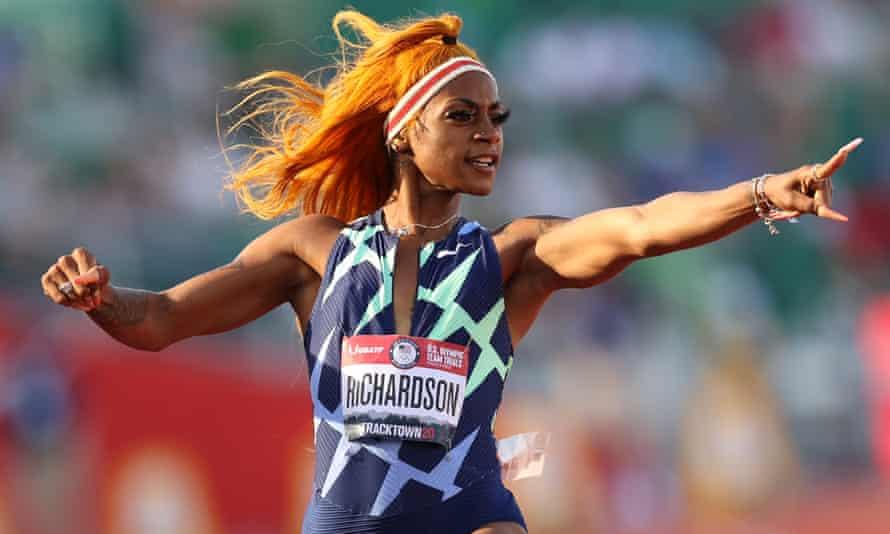 American track and field star Sha'Carri Richardson