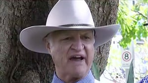 In a bizarre press conference Australian political party leader Bob Katter said current immigration policies were 'bringing in the persecutors'.