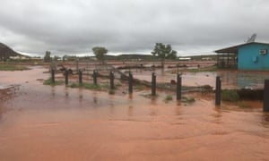 Flooding in the NT after torrential rains in December.