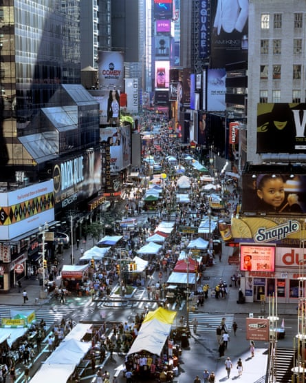 A street market on pedestrianised Broadway in 2009.