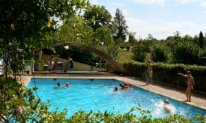 Domaine d'Esperbasque campsite, near Biarritz, France.
