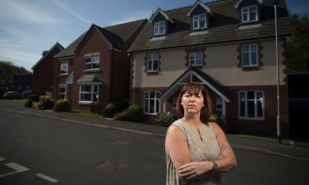 Joanne Darbyshire outside her Bolton home bought from Taylor Wimpey