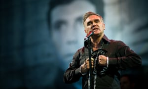 The singer-songwriter Morrissey performing at the Glastonbury festival in 2011