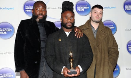 Young Fathers picking up the 2014 Mercury music prize.