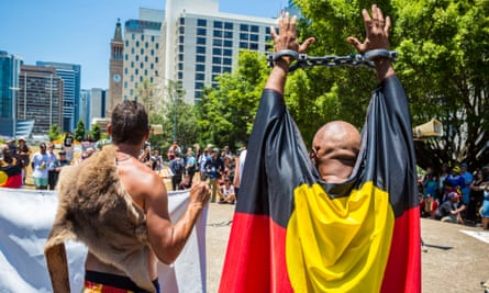 Protesters against the level of Indigenous incarceration