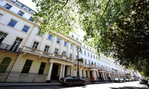 Eaton Square in Belgravia, central London