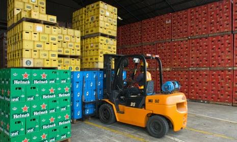 Heineken's Nigerian distribution centre.