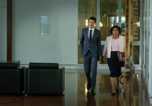 Jonathan (Harry Richardson) and Alex (Deborah Mailman) in new ABC series Total Control.
