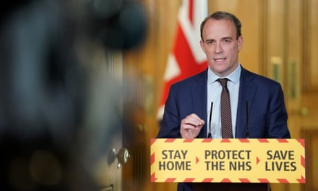 With the PM in hiding, Raab takes cover behind 'the science'
