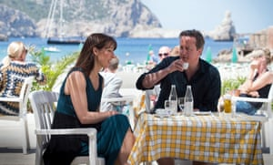 David and Samantha Cameron on holiday in 2013 in Ibiza, Spain