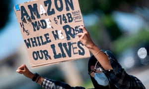 amazon workers in california protest against conditions this month